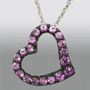 Pretty in Pave™ Ladies Lab-Created Sapphire Free Form Heart Pendant at Sears.com