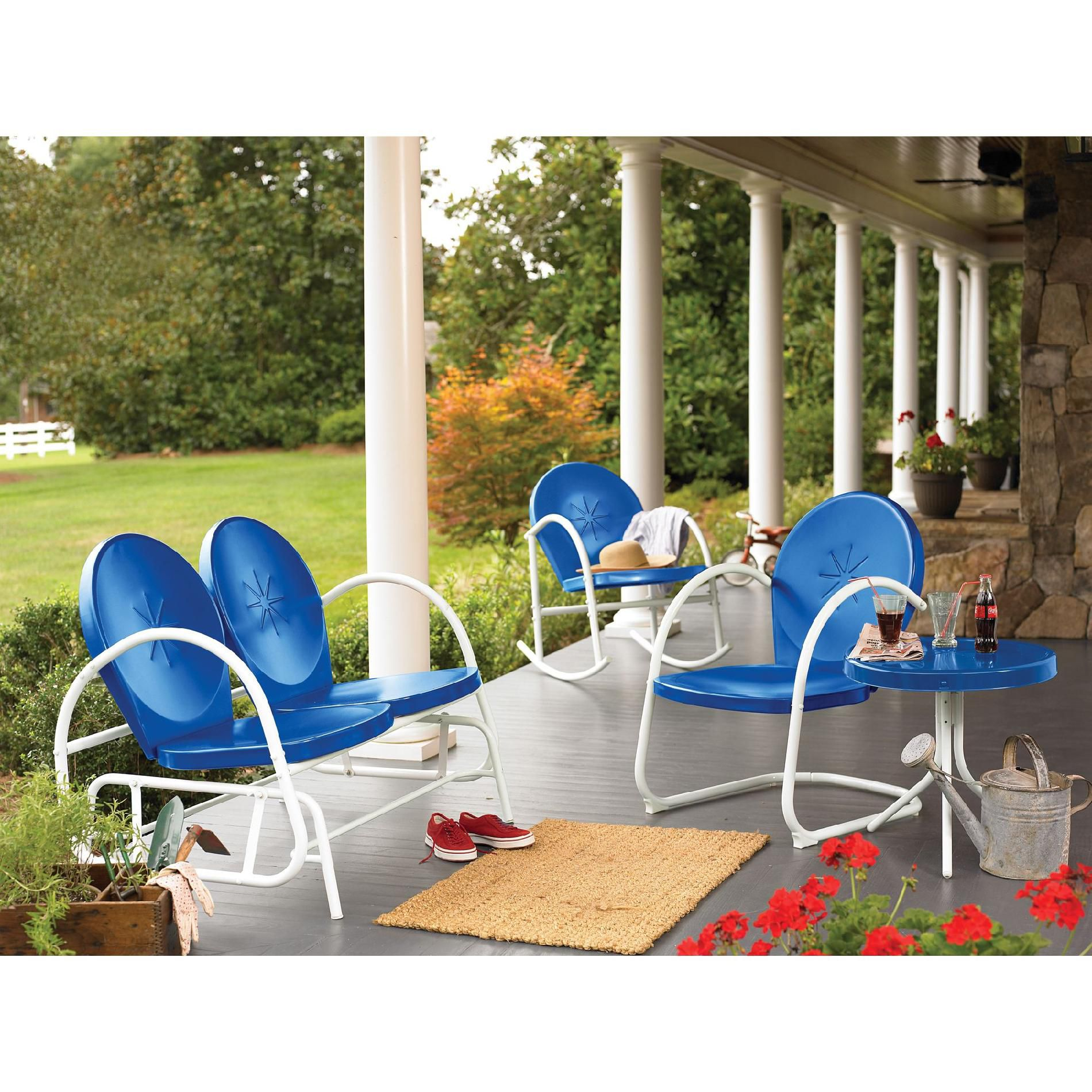 Retro Steel Clam Rocker - Blue