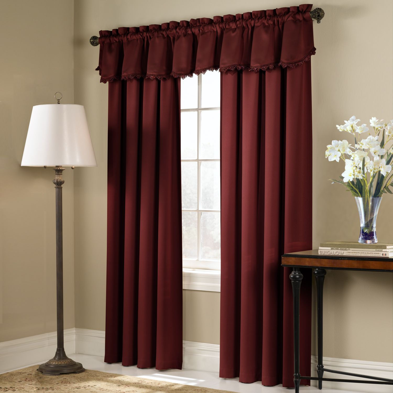 United Curtain Company Blackstone room darkening panel-available in gold,sage,black,chocolate,brick,blue & taupe