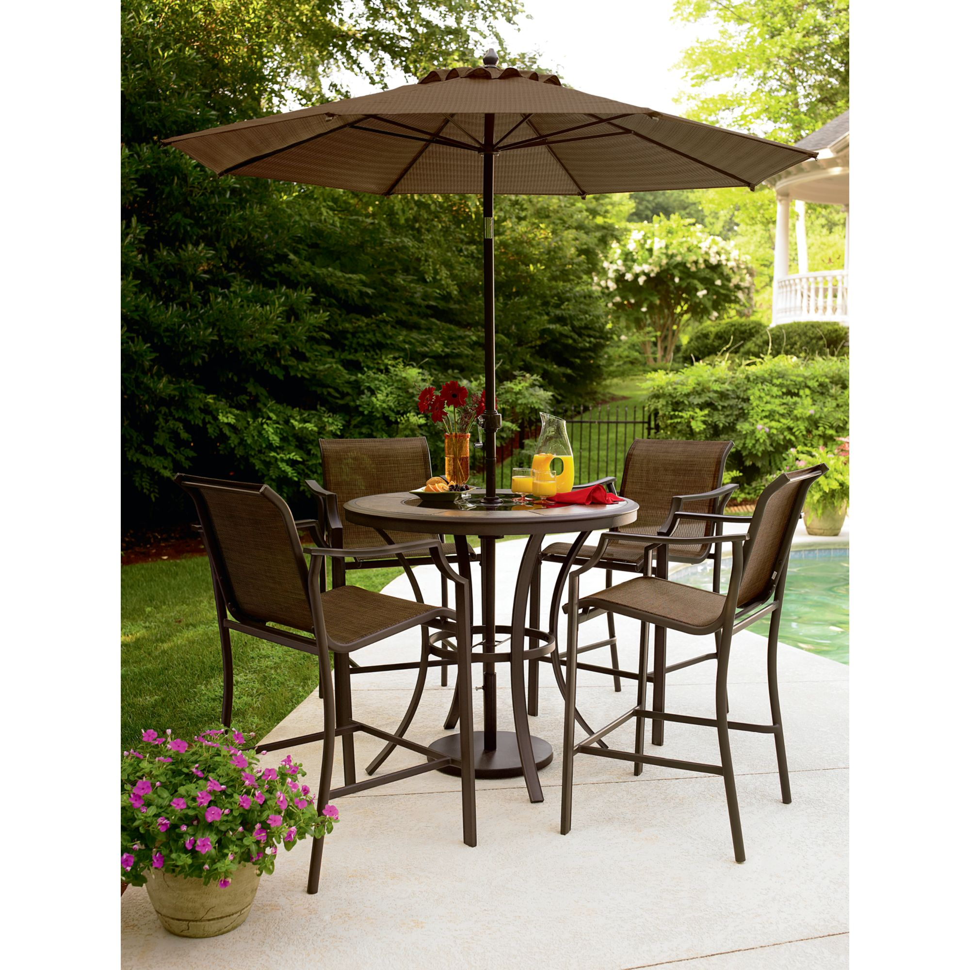 Garden Oasis Cooper Lighted High Dining Table