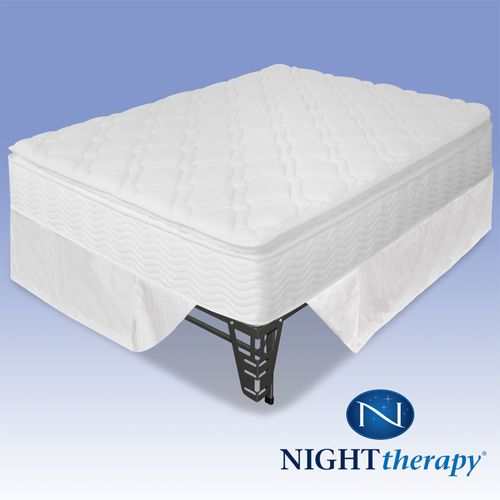 Night Therapy 10 Inch Pillow Top Spring Complete Mattress Set-Full