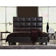 Oxford Creek Queen Bed Tufted Faux Leather Dark Brown at Kmart.com
