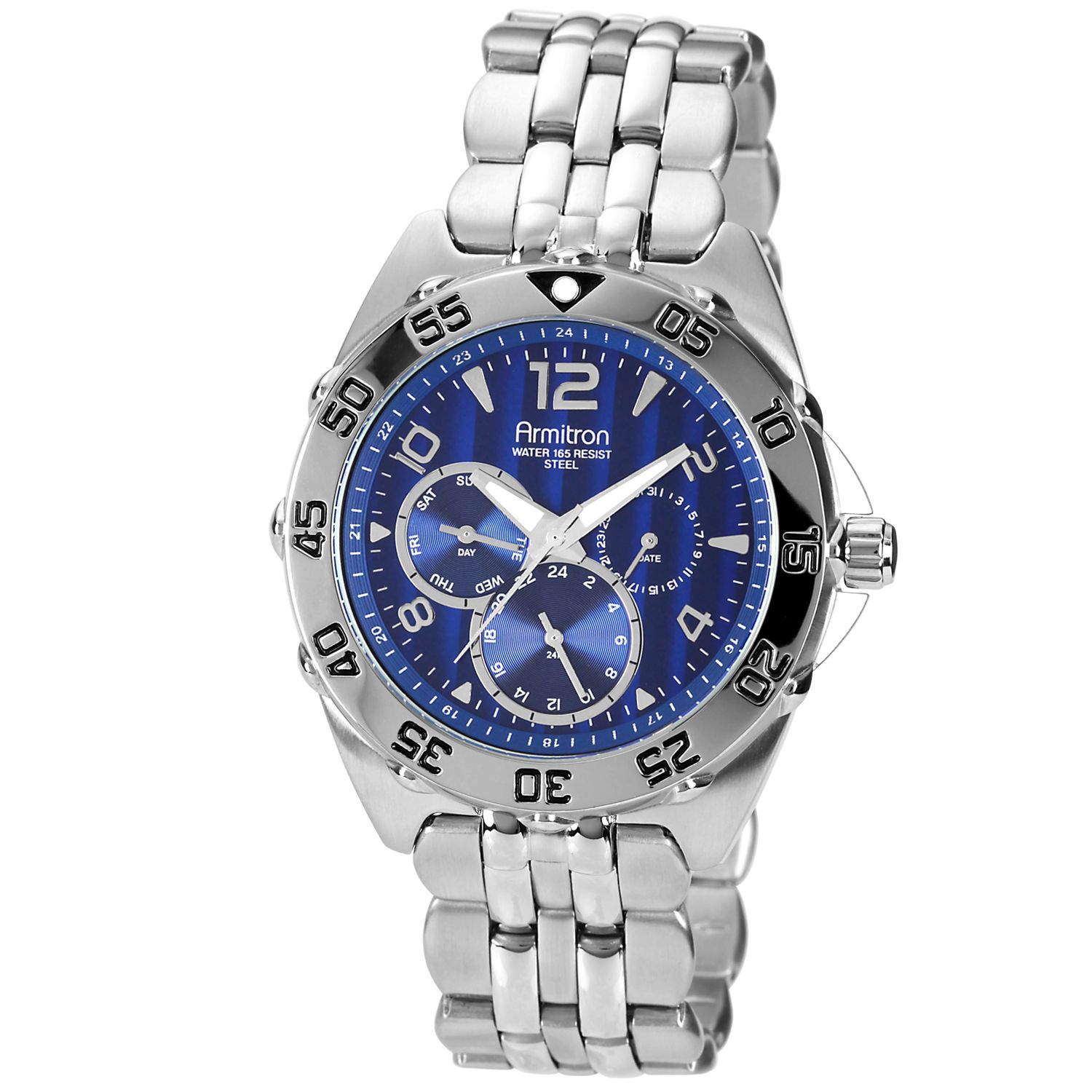 Men's Calendar Day/Date Watch w/Round