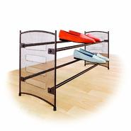 Lynk® Expandabe/Stackable Shoe Rack-Mesh Sided (Bronze) at Kmart.com