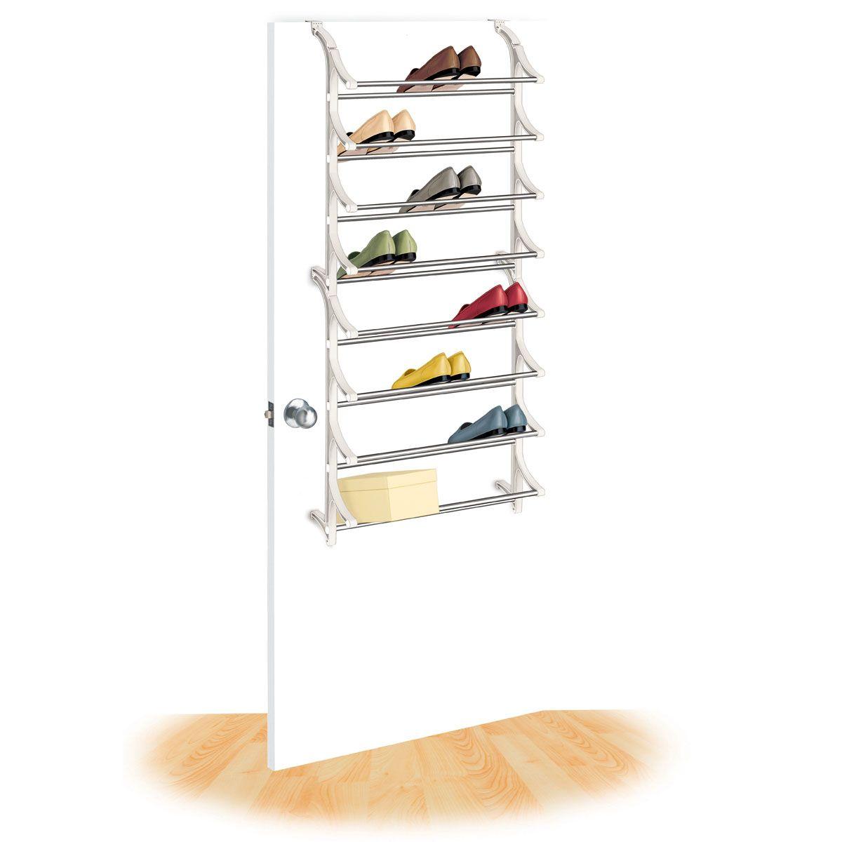 Lynk® 24 Pair Over Door Shoe Rack