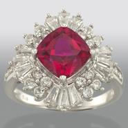 Sterling Silver and Lab Created Ruby Ring at Kmart.com