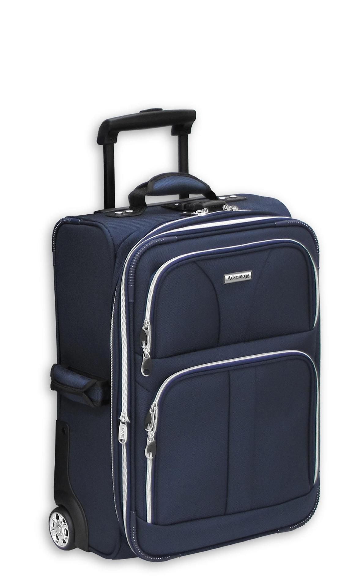 Leisure Luggage 21in Upright Advantage Silver Lites - Navy