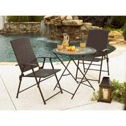 Garden Oasis 28 In. Wicker Folding Table - Dark Brown at Kmart.com