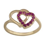 Lab Created Ruby Ring Gold over Brass at Kmart.com