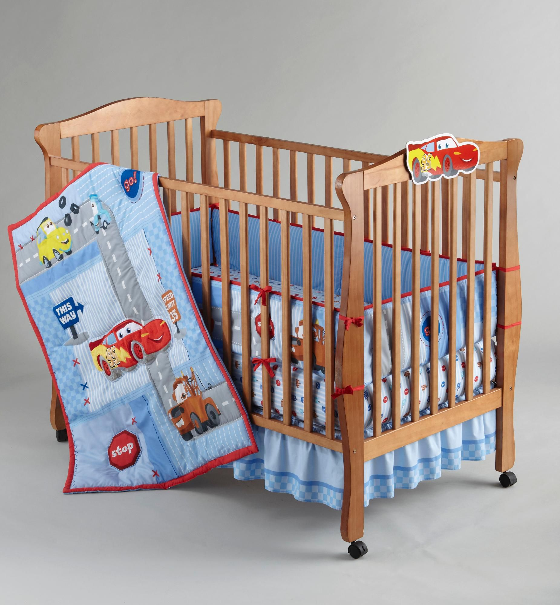 Boys Cars Little Racer Five-Piece Baby Crib Bedding Set                                                                          at mygofer.com