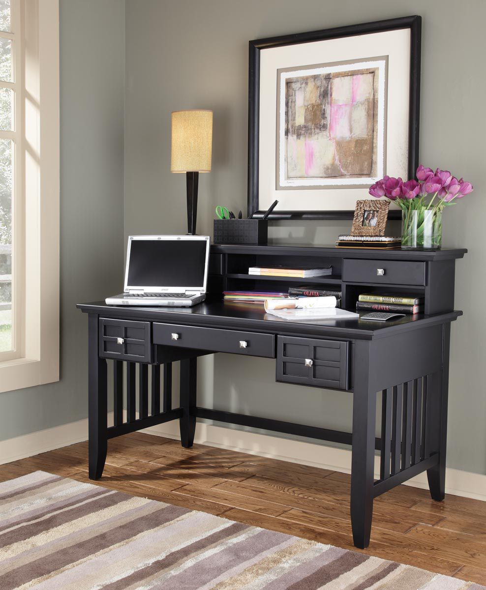 Arts & Crafts Executive Desk & Hutch