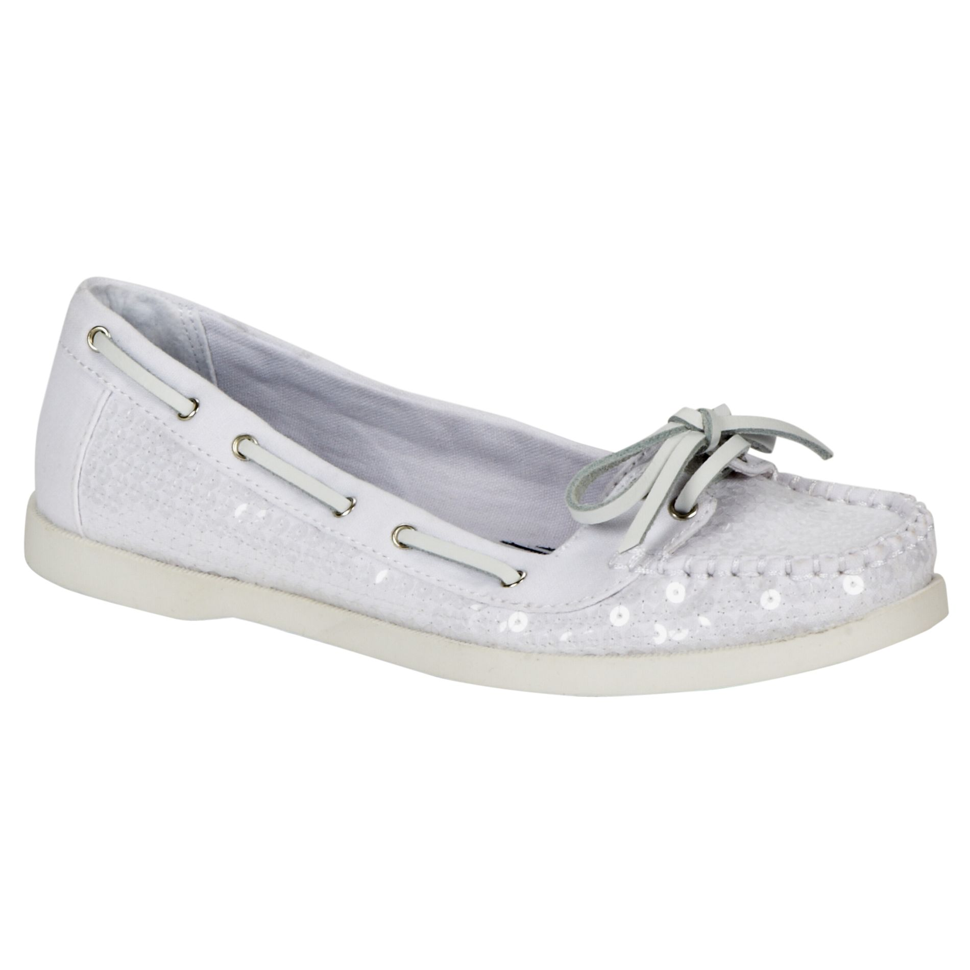 Melrose Avenue Women s Starboard Casual Boat Shoe - White