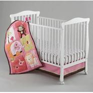 NoJo Newborn Girl's Raspberry Jungle Four-Piece Bedding Set at Kmart.com