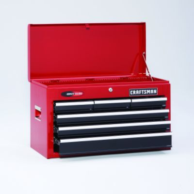 Craftsman-14 Drawer, 26 in. Combo - Red/Black - Each Item Sold Separately
