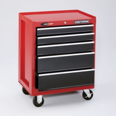 Craftsman-11 Drawer, 26 in. Combo - Red/Black  - Each Item Sold Separately