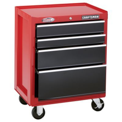 Craftsman-10 Drawer, 26 in. Combo - Red - Each Item Sold Separately