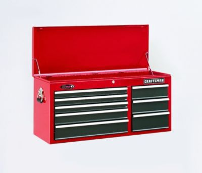 Craftsman-22 Drawer 40 in. Ball Bearing Combo - Red/Black  - Each Item Sold Separately
