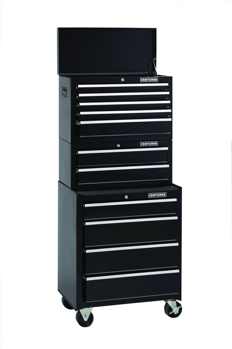 Craftsman-11-Drawer 3 Piece Standard-Duty Ball-Bearing Tool Storage Combo