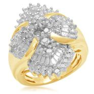 1/2 cttw Gold Over Brass Diamond Ring at Kmart.com