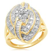 1/2 cttw Gold Over Brass Marquise Diamond Ring at Kmart.com