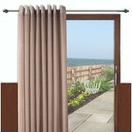 Ricardo Trading Bal Harbour semi-sheer grommet patio panel with wand - Taupe at Kmart.com