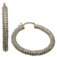 Sofia by Sofia Vergara Ladies Bold Cubic Zirconia Round Hoop at Kmart.com