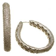 Sofia by Sofia Vergara Ladies Bold Cubic Zirconia Teardrop Hoop at Kmart.com