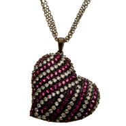 Sofia by Sofia Vergara Ladies Multi Color Cubic Zirconia Heart Pendant with Chain at Kmart.com
