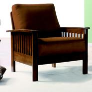 Oxford Creek Mission-style Oak and Rust Chair at Sears.com