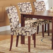 Oxford Creek Side Chairs in Blue Brick Pattern Fabric (set of 2) at Kmart.com