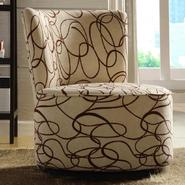 Oxford Creek Round Swivel Chair in Brown Swirl Print at Kmart.com