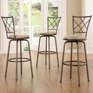 Oxford Creek Quarter Cross Back Barstools (Set of 3) at Kmart.com