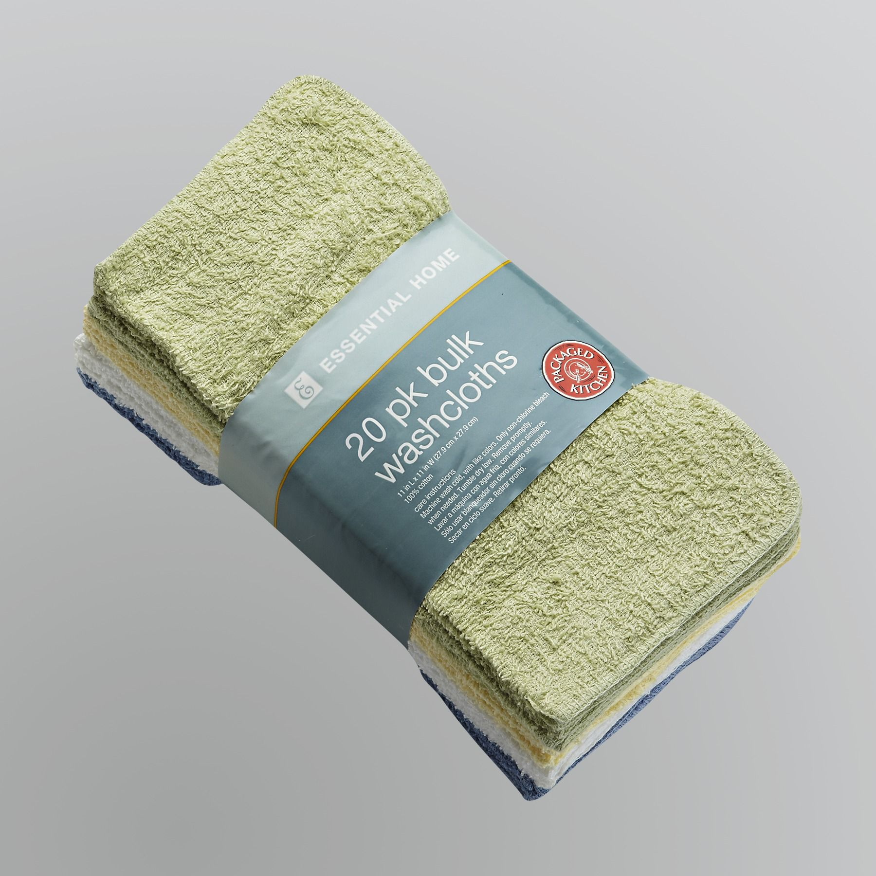 Essential Home Kitchen Washcloths - Set of 20