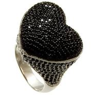 Sofia by Sofia Vergara Ladies Black and White Cubic Zirconia Heart  Ring at Kmart.com