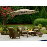 Garden Oasis 11.5 Ft. Steel Round Offset Umbrella w/ Sand Base at Sears.com