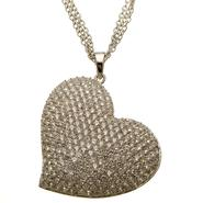 Sofia by Sofia Vergara Ladies Cubic Zirconia Heart Pendant with Chain at Kmart.com