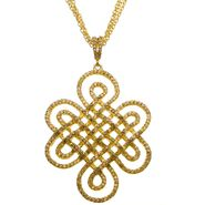 Sofia by Sofia Vergara Ladies Yellow Gold Plated Cubic Zirconia Swirl Pendant at Kmart.com