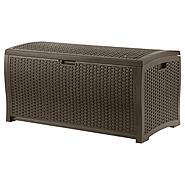 Suncast 99 Gallon Resin Wicker Deck Box at Sears.com