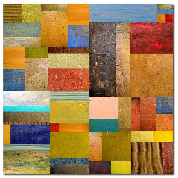 "Trademark Fine Art Michelle Calkins 'Pieces Project III' 35"" x 35"" Canvas Art PartNumber: 02423502000P KsnValue: 02423502000 MfgPartNumber: MC090-C3535GG"