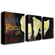 Trademark Fine Art Amanda Rea 'Eat Pray Love' Canvas Art Set at Sears.com