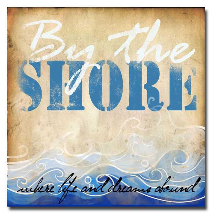 """Trademark Art """"By the Shore"""" Canvas Art by Working Girls Design"""