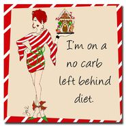 "Trademark Fine Art 18x18 inches Working Girls Design ""No Carb Left Behind II"" at Sears.com"