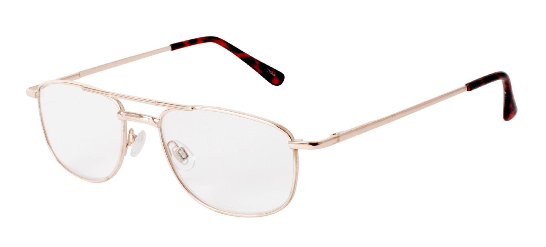 studio 1 optics men s aviator reading glasses gold 2 25