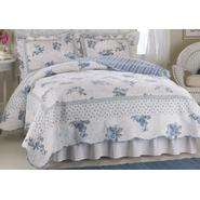American Traditions Rose Blossom Blue Full / Queen Quilt at Kmart.com