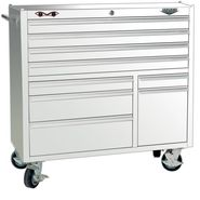 "Viper Tool Storage 41"" 9 Drawer 18G Steel Rolling Cabinet, White at Sears.com"