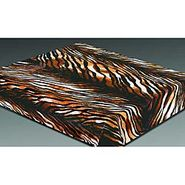 Trademark Global Acrylic Mink 322 Tiger Skin Blanket at Kmart.com