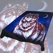 Trademark Global Acrylic Mink Blanket -  EB318 Wolf and Moon at Kmart.com