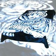 Trademark Global Acrylic Mink Blanket - 420WT - 2 White Tigers at Kmart.com
