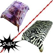 Trademark Global Acrylic Mink Two Ply 2-in-1 Zebra/Tiger Blanket at Kmart.com