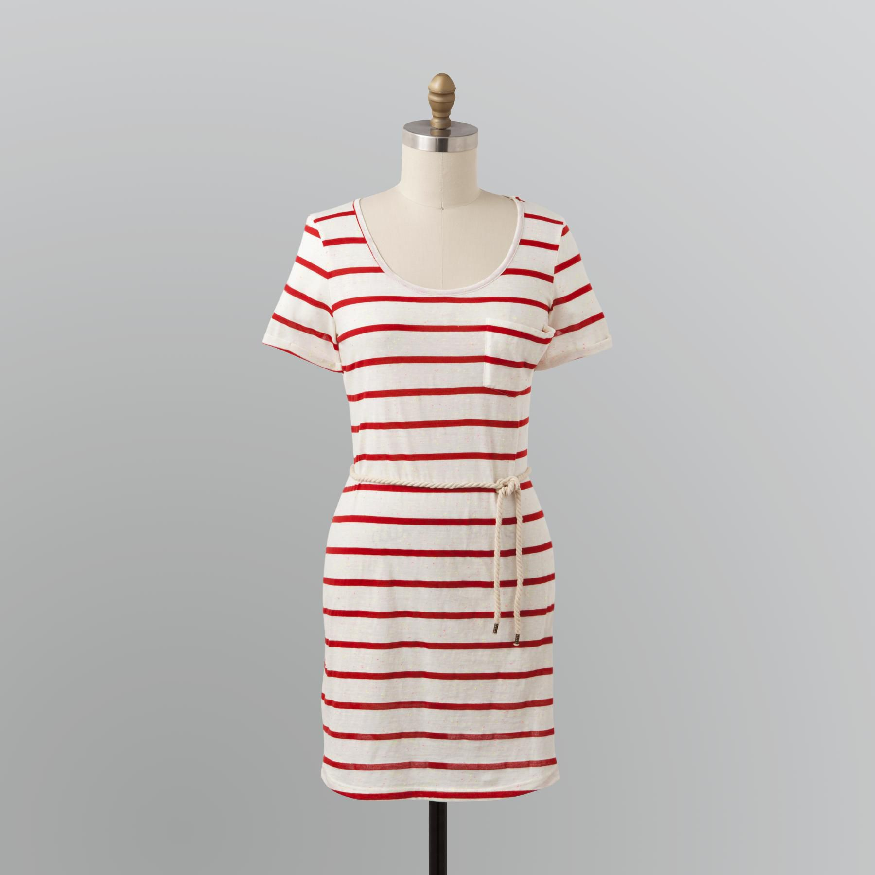 Route 66 Women s Striped T-Shirt Dress